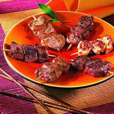 Brochettes tapas sauce barbecue