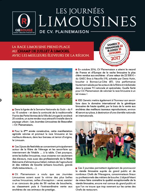 Journées Limousines October 2017