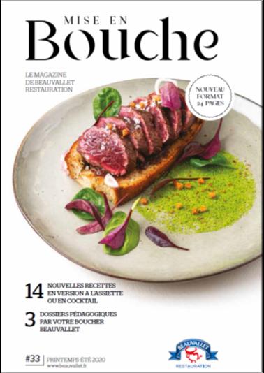"""Nueva Revista """"Mise en Bouche"""" primavera/verano 2020 de Beauvallet"""