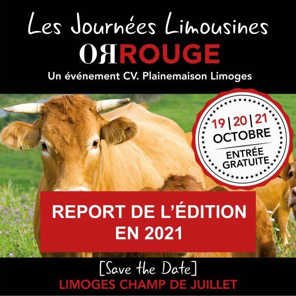 Report des Journées Limousines Or Rouge en 2021